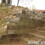 Contaminated Timbers in Lakeside Retaining Wall