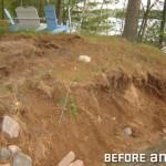 Heavy Erosion from Failing Retaining Wall