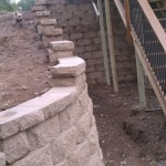 Alternate View of Wall Behind Wooden Steps