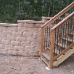 Completed Wall Along Steps