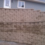 Completed Multi-Tiered Curving Retaining Wall