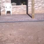 Paver Patio Area Under Deck